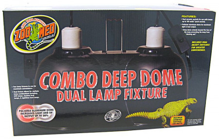 Zoo Med Combo Deep Dome Dual Lamp Fixture alternate img #1