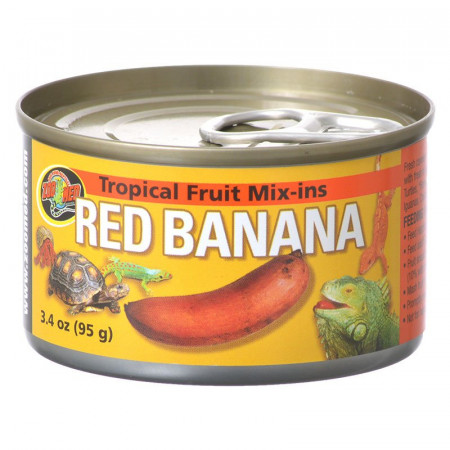 Zoo Med Tropical Fruit Mix-Ins Reptile Food - Red Banana alternate img #1