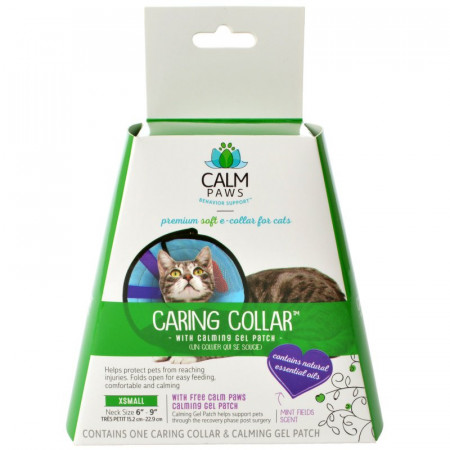 Calm Paws Caring Collar with Calming Gel Patch for Cats alternate img #1