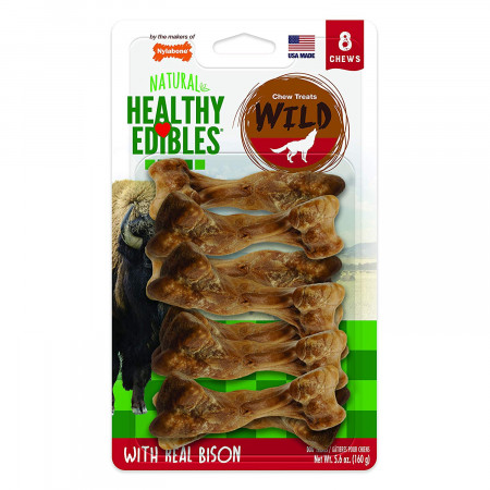 Nylabone Healthy Edibles Natural Wild Bison Chew Treats - Small alternate img #1