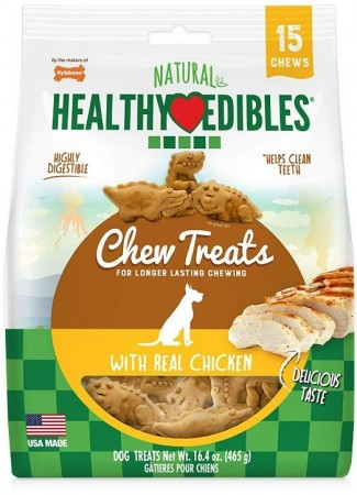 Nylabone Natural Healthy Edibles Dog Chew Treats with Real Chicken alternate img #1