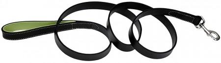 CircleT Fashion Leather Leash Black/Green alternate img #1