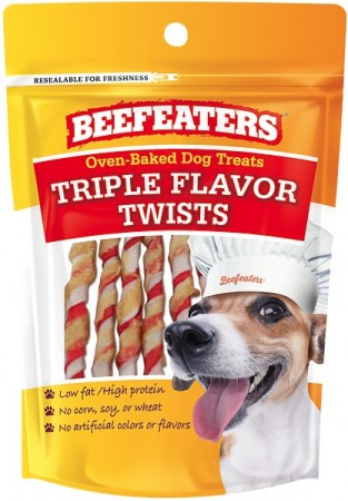 Beafeaters Oven Baked Triple Flavor Twists Dog Treat alternate img #1