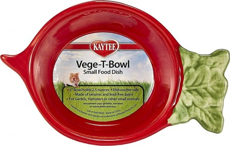 Kaytee Vege-T-Bowl Radish Small Food Dish alternate img #1