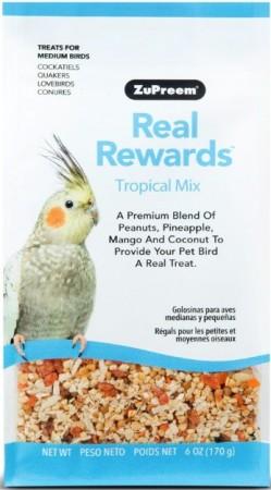 ZuPreem Real Rewards Tropical Mix Treats for Medium Birds alternate img #1