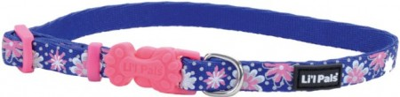Li'L Pals Reflective Collar - Flowers with Dots alternate img #1