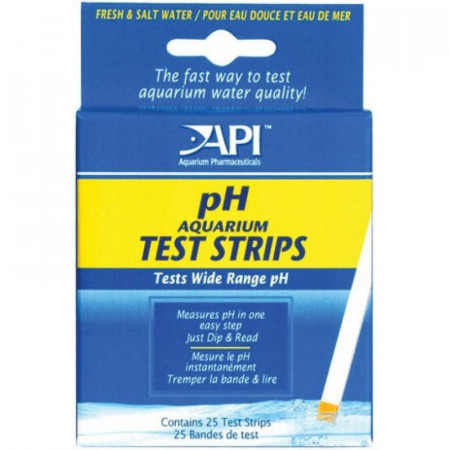 API pH Aquarium Test Strips for Fresh & Saltwater Aquariums alternate img #1