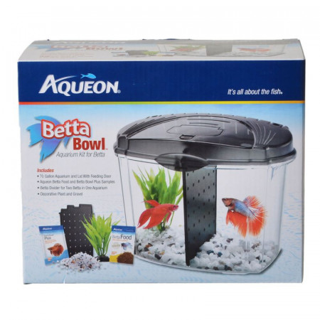 Aqueon Betta Bowl Starter Aquarium Kit - Black alternate img #1
