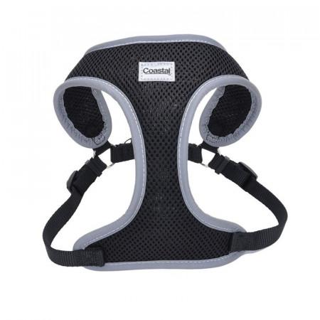 Coastal Pet Comfort Soft Reflective Wrap Adjustable Dog Harness - Black alternate img #1