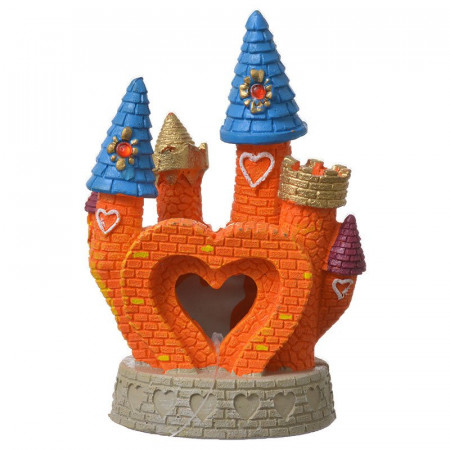 Blue Ribbon Exotic Environments Heart Castle Ornament - Orange alternate img #1