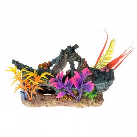 Blue Ribbon Exotic Environments Sunken Ship Floral Ornament alternate img #1
