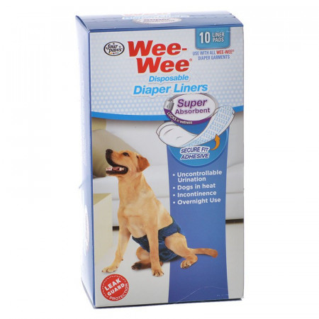 Four Paws Wee Wee Super Absorbent Disposable Diaper Liners alternate img #1