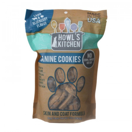 Howls Kitchen Canine Cookies Skin and Coat Formula Lamb and Blueberry alternate img #1