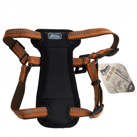 Coastal Pet K9 Explorer Reflective Adjustable Padded Dog Harness - Campfire Orange alternate img #1