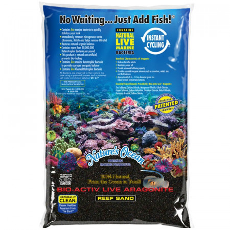 Natures Ocean Bio-Activ Live Aragonite Reef Sand - Black Beach alternate img #1