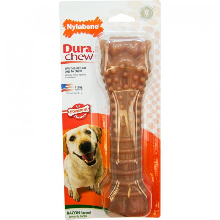 Nylabone Dura Chew Bone - Bacon Flavor - Souper alternate img #1