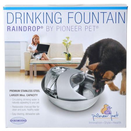 Pioneer Pet Raindrop Stainless Steel Drinking Fountain alternate img #1