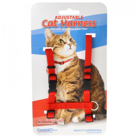 Tuff Collar Adjustable Cat Harness - Red alternate img #1