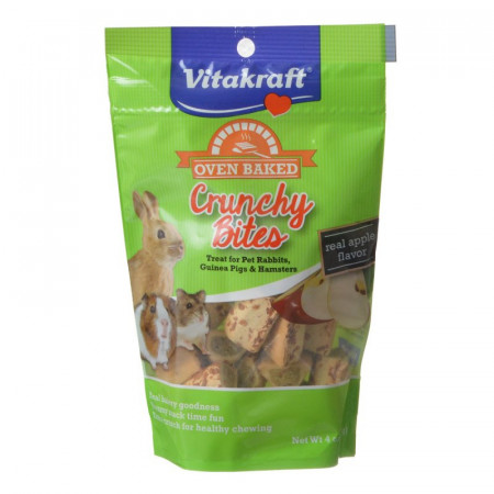 Vitakraft Oven Baked Crunchy Bites Small Pet Treats - Real Apple Flavor alternate img #1