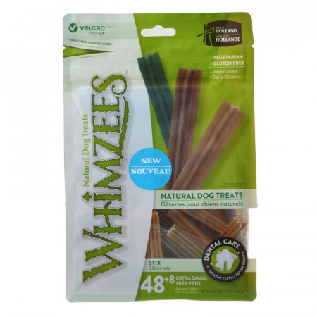Whimzees Natural Dental Care Stix Treats X-Small alternate img #1