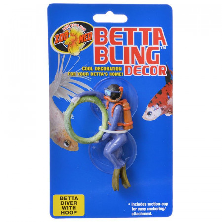 Zoo Med Betta Bling Decor - Diver with Hoop alternate img #1