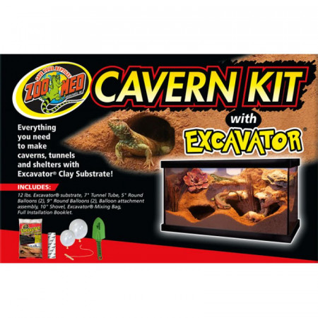 Zoo Med Cavern Kit with Excavator Clay Substrate alternate img #1