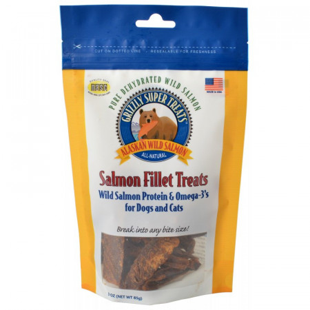 Grizzly Super Treats Salmon Fillet Treats for Dogs and Cats alternate img #1