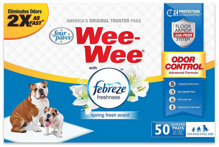 Four Paws Wee Wee Odor Control Pads with Febreze Freshness alternate img #1