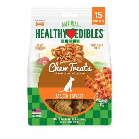 Nylabone Healthy Edibles Natural Bacon Flavor Chew Treats alternate img #1