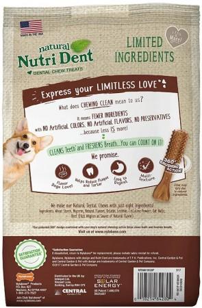 Nylabone Natural Nutri Dent Filet Mignon Limited Ingredients Small Dog Chews alternate img #2