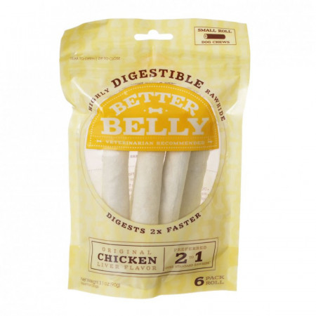 Better Belly Rawhide Chicken Liver Rolls - Small alternate img #1