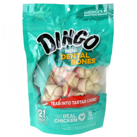 Dingo Dental Bones with Real Chicken (No China Ingredients) - Mini alternate img #1