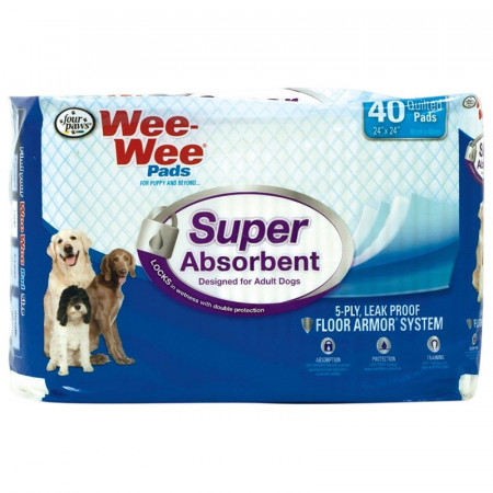 Four Paws Wee Wee Pads - Super Absorbent alternate img #1
