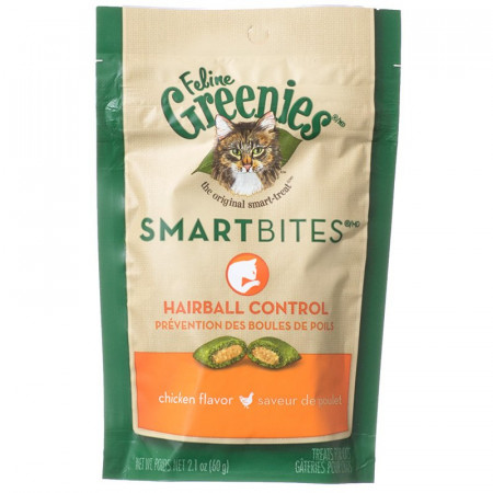 Greenies SmartBites Hairball Control Cat Treats - Chicken Flavor alternate img #1