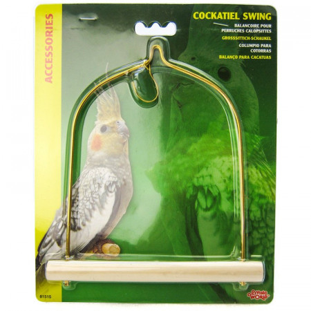 Living World Cockatiel Swing with Wood Perch alternate img #1
