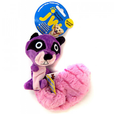 JW Pet Crackle Heads Ricky Raccoon Dog Toy alternate img #1