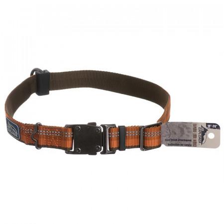 Coastal Pet K9 Explorer Reflective Adjustable Dog Collar - Campfire Orange alternate img #1