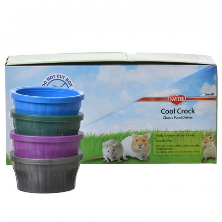Kaytee Cool Crock Small Pet Bowl - Assorted Colors alternate img #1