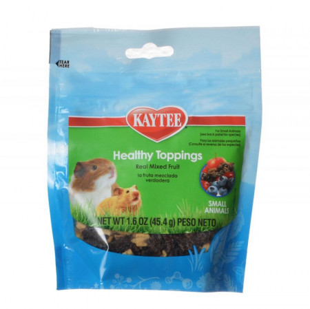 Kaytee Fiesta Healthy Toppings Treat for Small Animals - Mixed Fruit alternate img #1