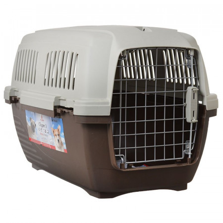 73d423f4dc Marchioro Clipper Cayman Dog Kennel - Brown alternate img #1