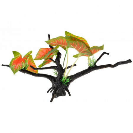 Penn Plax Driftwood Plant - Green & Red - Wide alternate img #1