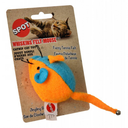 Spot Whiskins Felt Mouse with Catnip - Assorted Colors alternate img #1
