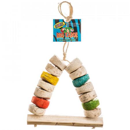 Wesco Bird Kabob Shreddable Bird Perch Toy - Carnival alternate img #1