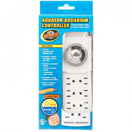 Zoo Med AquaSun Aquarium Controller - 8 Outlet Timer & Power Strip alternate img #1