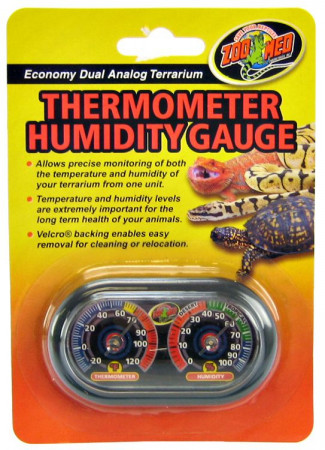 Zoo Med Terrarium Thermometer Humidity Gauge alternate img #1