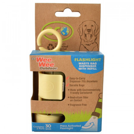 Four Paws Wee Wee Outdoor Eco Flashlight Waste Bag Dispenser with Refill alternate img #1