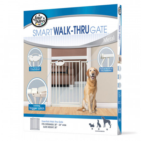 Four Paws Smart Walk-Thru Gate - Metal alternate img #1