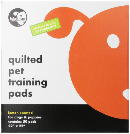 Lola Bean Quilted Pet Training Pads - Lemon Scent - Large alternate img #1