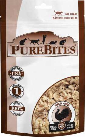 PureBites Turkey Freeze Dried Cat Treats alternate img #1