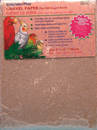 Penn Plax Calcium Plus Gravel Paper for Caged Birds alternate img #1